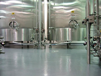 Invision-Comcorco-urethane-cement-flooring-in-brewery