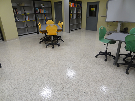 Invision-Comcorco-epoxy-flake-flooring-school-library